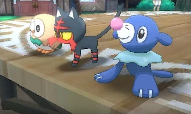 Natürlich gibt es in Sonne und Mond auch neue Starter-Pokémon.