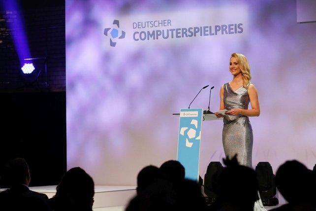 Nachrichtensprecherin Judith Rakers moderierte die DCP Gala 2015. Foto: GETTY IMAGES/ Franziska Krug