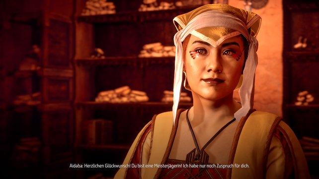 Aidaba ist eure Kontaktperson, wenn ihr reichlich Glutsonnen gesammelt habt.