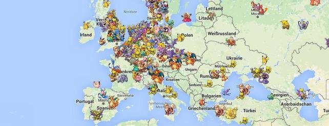 Das Poke Radar zeigt euch Fundorte aller Pokémon auf der ganzen Welt.