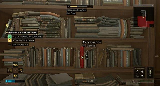 Das rote Buch ist kaum zu übersehen.