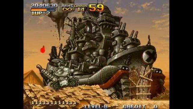 Der Mini-Panzer besitzt drei Waffenmechanismen: Eine Gatling-Knarre, die Hauptkanone und einen limitierten Vorrat von Granaten.