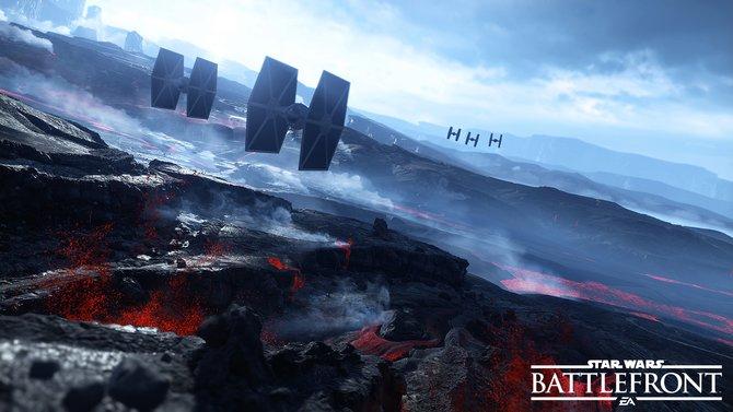 Im Jägerstaffelmodus von Star Wars Battlefront fliegt ihr selbst mit einem Tie-Fighter umher.