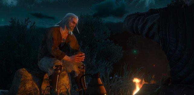 Rittersporn befreit Geralt aus dem Gefängnis nach dem schlechten Ende.