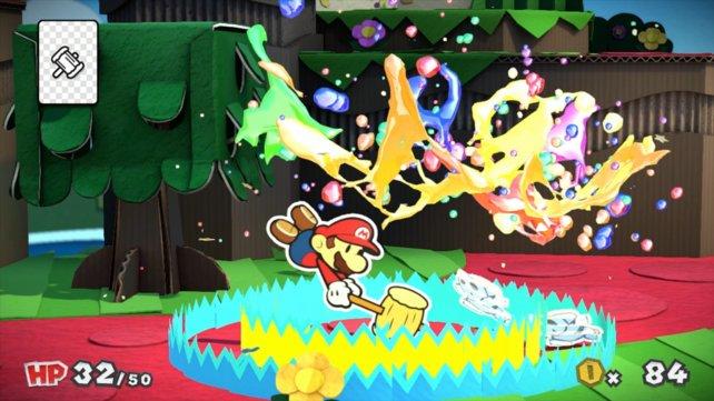Mit dem Hammer verleiht Mario seinen Argumenten Gewicht.