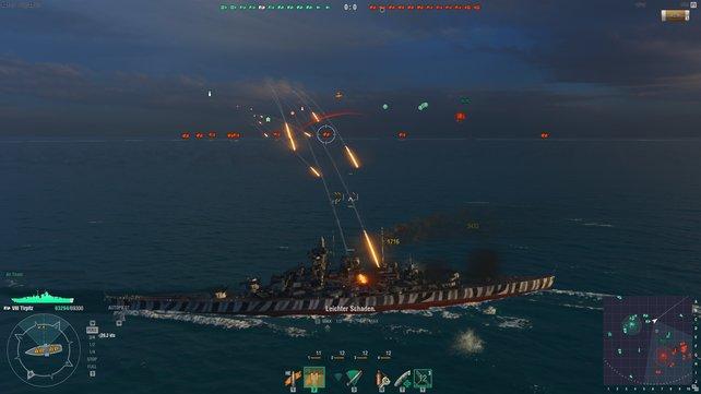 Schlachtschiffe können Beschuss sehr gut wegstecken.