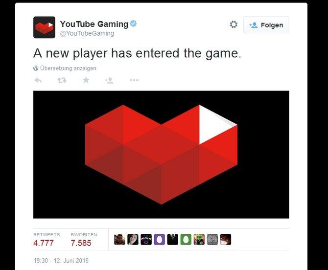 Ein neuer Spieler hat das Spiel betreten! Youtube startet seine eigene Plattform speziell für Videospiele.