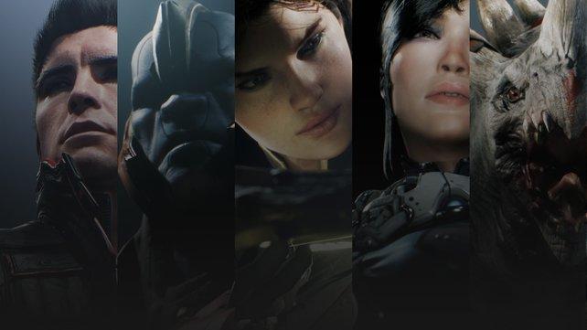 13 an der Zahl: Aktuell stehen in Paragon 13 Helden mit unterschiedlichen Fähigkeiten zur Verfügung.