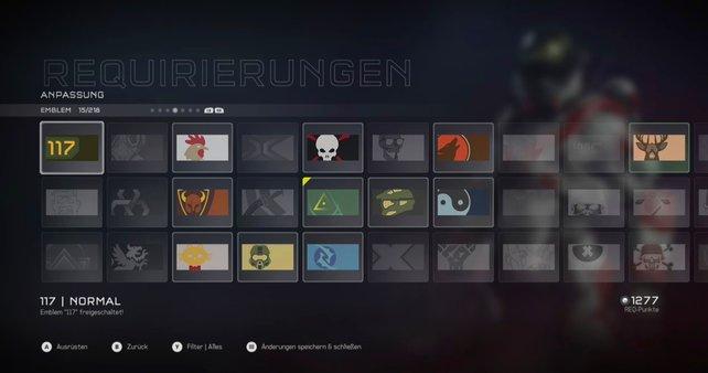 Die REQ-Pakete können auch Embleme enthalten.