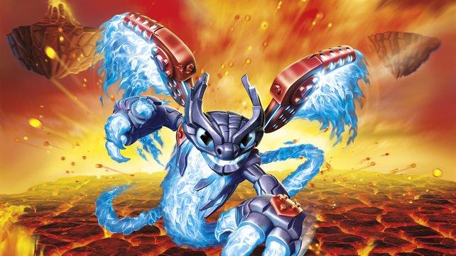 Brennend heiß: Spitfire, der Anführer der Superchargers, ist ein Flammengeist mit feurigen Attacken.