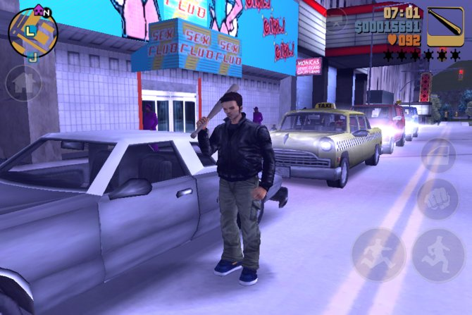 Auch auf Mobilplattformen machen die GTA-Teile eine ausgezeichnete Figur.