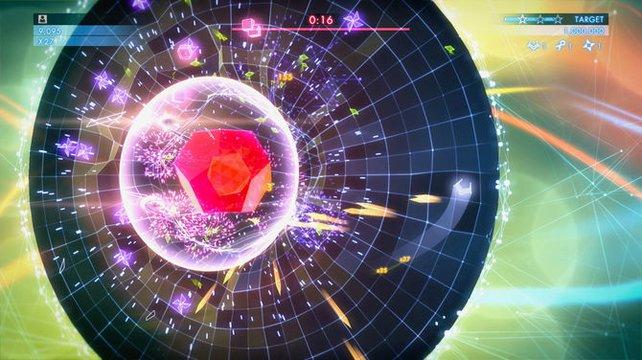 Bunt und abgefahren: Geometry Wars 3 bleibt seinem ganz speziellen Stil treu.