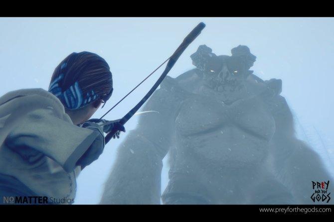 In Prey for the Gods bekämpft ihr riesige Giganten. Ob der Bogen da ausreicht?
