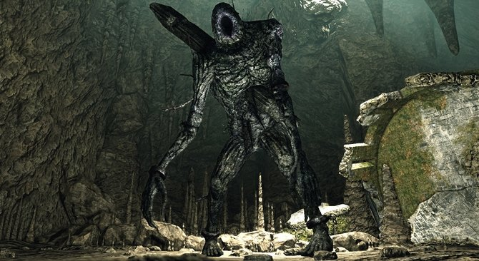 Yhorm sieht so ganz anders als die Riesen aus Dark Souls 2 aus.