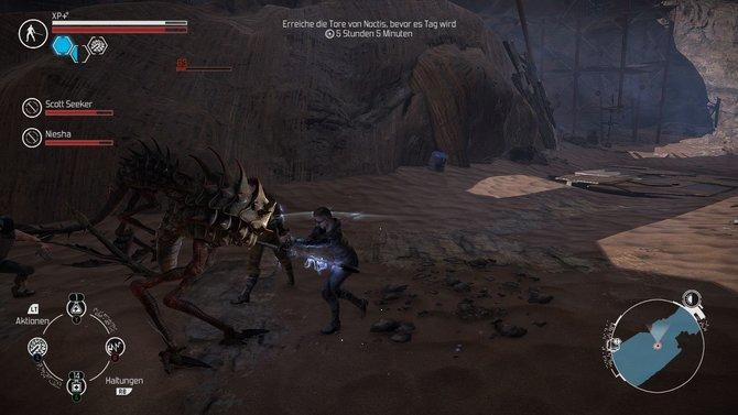 Zachariah setzt seine Fähigkeiten nicht nur gegen menschliche Gegner ein. Auf dem Mars lauern reichlich feindliche Kreaturen.