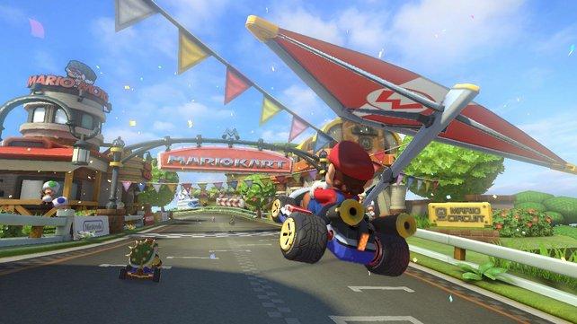 Mario und seine Freunde sind auch auf vier Rädern wahre Spaßbringer.