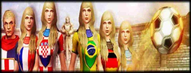 Passend zur Weltmeisterschaft könnt ihr eure Charaktere in den Farben eures Landes ausstatten.