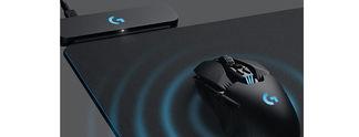 Logitech-Mauspads laden Gaming-Mäuse kabellos auf