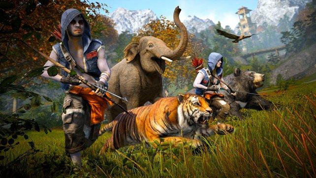 Gegner und Tierewelt sind verlässliche Quellen für Geld und Rohstoffe.