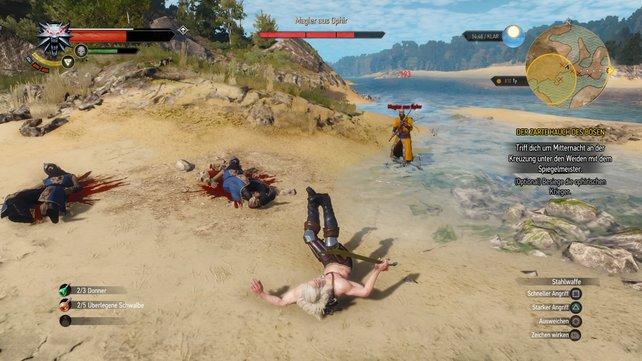 Da hat es Geralt von den Beinen gerissen.