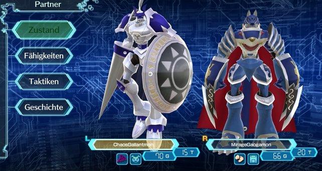 Im Partnermenü könnt ihr sehen, wie lange eure Digimon schon leben, aber nicht, wie lange sie noch zu leben haben.