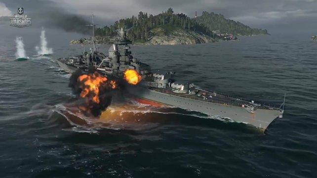 Dank der guten Panzerung können die deutschen Kreuzer viele Treffer einstecken.