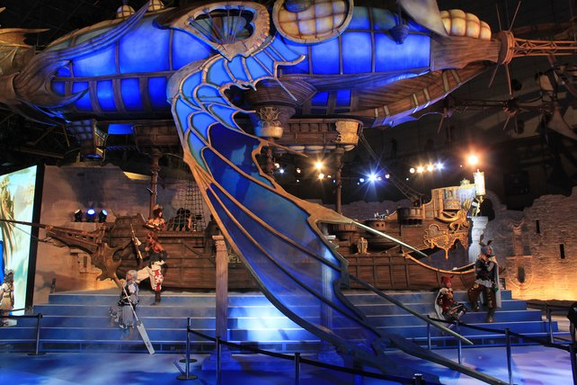 Ihr mobiles Rollenspiel Granblue Fantasy präsentiert Cy Games stilecht mit einem Luftschiff.