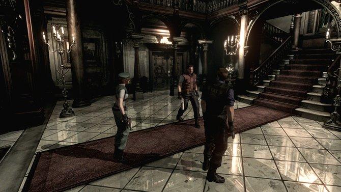 In Resident Evil beginnt alles in dieser Eingangshalle eines verlassenen Herrenhauses.