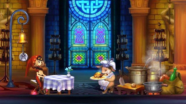 Na, bei dem Festmahl bleibt keine Wunde unverheilt! (Odin Sphere)