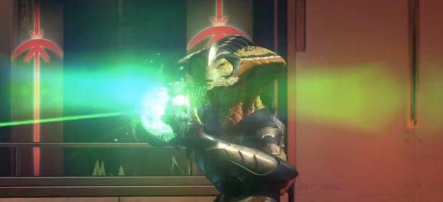 Die Viper trägt zu allem Übel auch noch einen Alien-Blaster