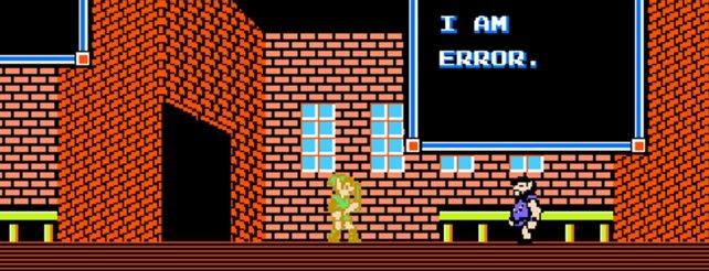 Der klassische generische NPC. Was will er uns bloß sagen (The Legend of Zelda).