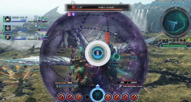 Im Kampf wird signalisiert wann ihr Kampf - Techniken einsetzen könnt, nachdem ein Kampfruf ausgeführt wurde.