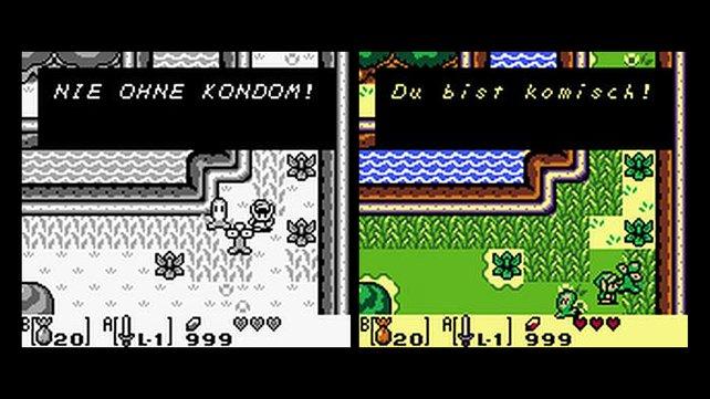 Der gute gemeinte Ratschlag (links) des Originals entfällt in der Farb-Neuauflage (rechts). (Bild von schnittberichte.com)