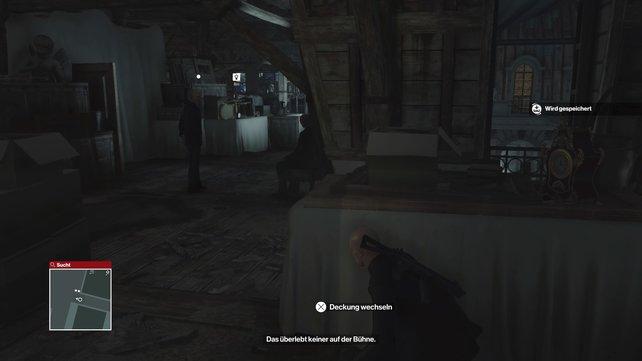 Belauscht die Wachen, um Informationen zu erhalten