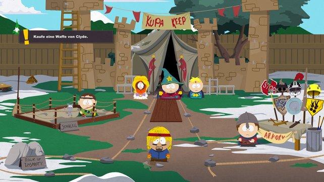 South Park - Der Stab der Wahrheit hält sich grafisch nah an die Fernseh-Vorlage.
