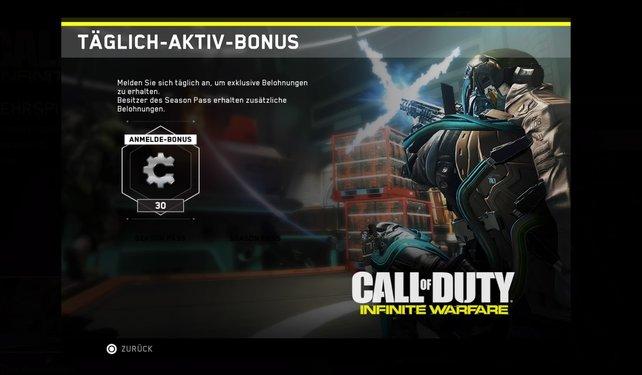 Wenn ihr in Call of Duty - Infinite Warfare Schrott sammeln wollt, dann solltet ihr euch täglich einloggen.