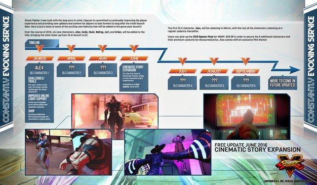 Das plant Capcom in den kommenden Monaten zu Street Fighter 5.