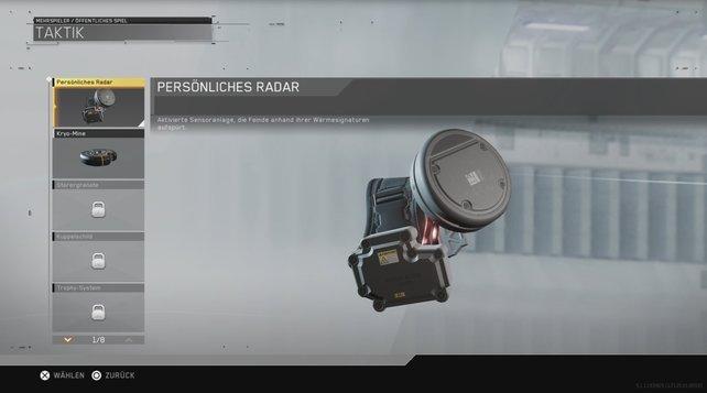 Das persönliche Radar ist eine neue Taktikausrüstung in Infinite Warfare.