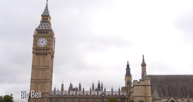 Zum Vergleich Big Ben in echt!
