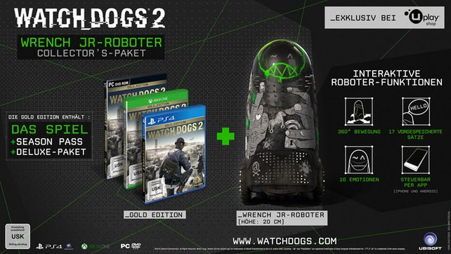Watch Dogs 2: Wrench JR-Roboter - Collector's Paket