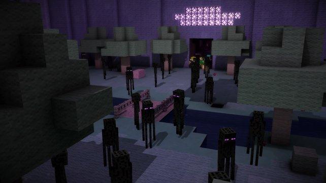 Die Endermänner lehnen sich gegen ihren Meister auf - jetzt heißt es fliehen!