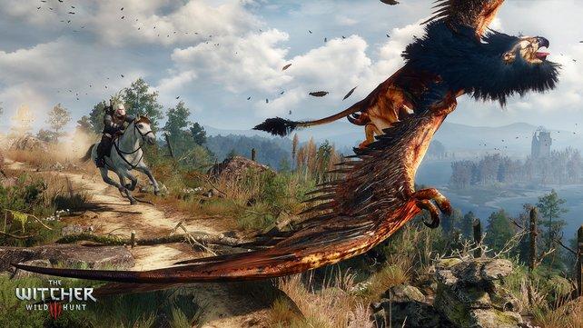 Der Greif, eine Bestie halb Löwe, halb Adler, terrorisiert die Gegend. Gegen Bezahlung geht Geralt auf die Jagd.