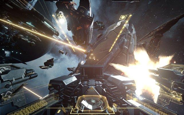 In Eve - Valkyrie erwarten euch Weltraum-Gefechte in Reinform - mit VR-Brillen. Was für ein Erlebnis!