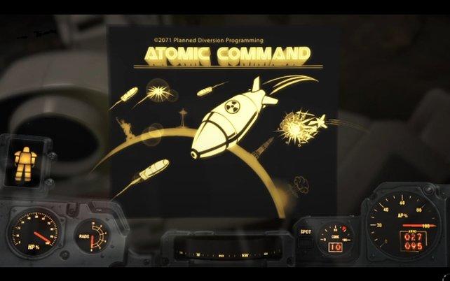 Atomic Command: Startbildschirm für den Missile Command-Klon.