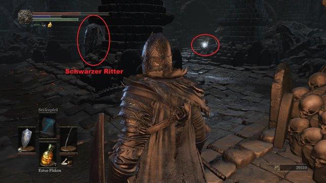 Hinten liegt das Schwert des Schwarzen Ritters.
