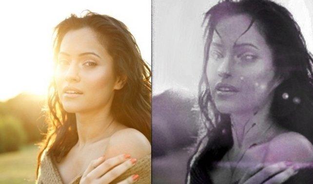 Links das Originalfoto, rechts die spärlich nachbearbeitete Version.