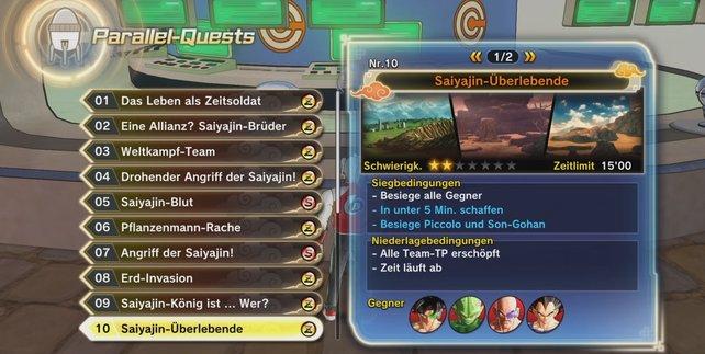 Hier zeigen wir euch die Parallel-Quests 01 bis 10 in Dragon Ball Xenoverse 2.