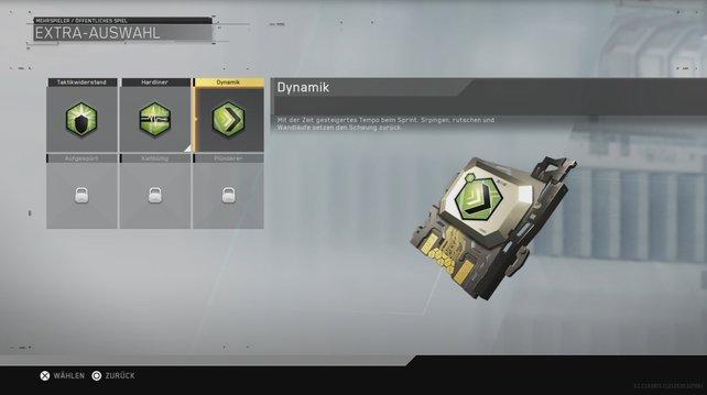 Dynamik für schnellere Fortbewegung: Dieses grüne Extra ist ebenfalls neu hinzugekommen.