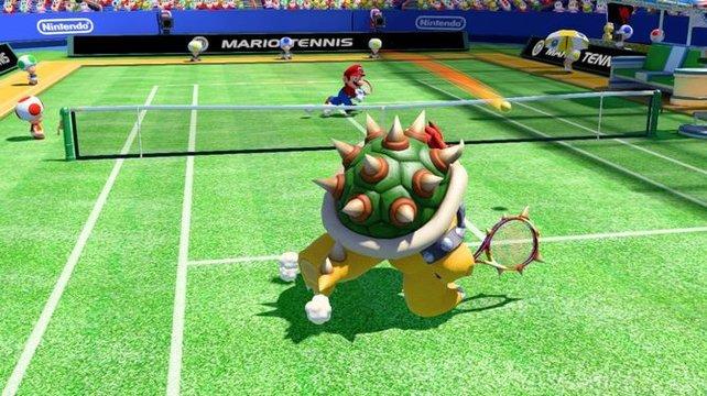 Ein Rasenplatz darf in einem Tennisspiel natürlich nicht fehlen.