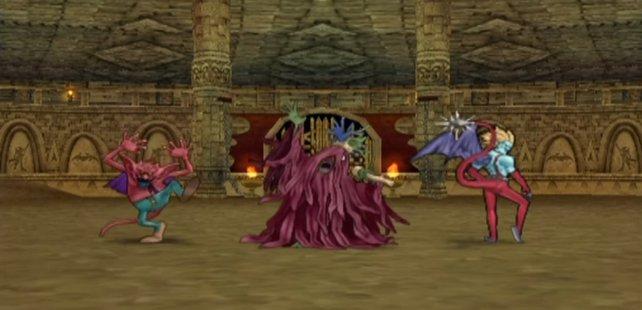 In der Monsterarena müsst ihr nicht selbst kämpfen, sondern seid nur Zuschauer.